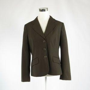 Ann Taylor brown pinstripe jacket 10
